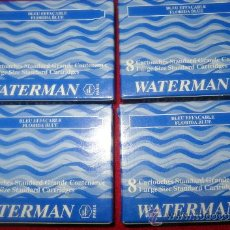 Escribanía: 4 CAJAS X 8 CARTUCHOS TINTA WATERMAN LARGOS . Lote 39124641