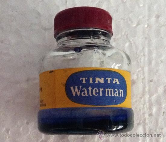 ANTIGUO BOTE TINTA WATERMAN- CAR08 (Plumas Estilográficas, Bolígrafos y Plumillas - Plumillas y Otros Elementos de Escribanía)