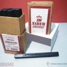 Escribanía: A.W. FABER CASTELL, ANTIGUA CAJA DE 12 BARRAS -PITT- PASTEL PARA ARTISTAS COLOR NEGRO Nº 2865. Lote 40266752