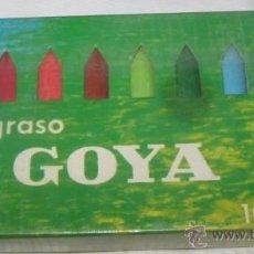 Escribanía: CAJA DE LÁPICES GRASOS GOYA. Lote 40526391