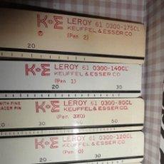 Escribanía: LOTE 5 REGLAS ABECEDARIO LEROY K+E. Lote 41252651