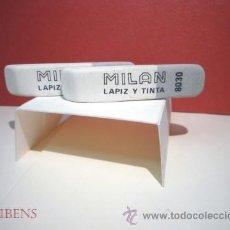 Escribanía: MILAN, 2 GOMAS DE BORRAR DUALES PARA TINTA Y LAPIZ Nº 8030. Lote 156043860
