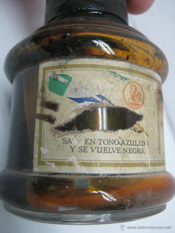 Escribanía: Bello bote antiguo Tinta Estilografica Pelikan - Foto 2 - 43040136