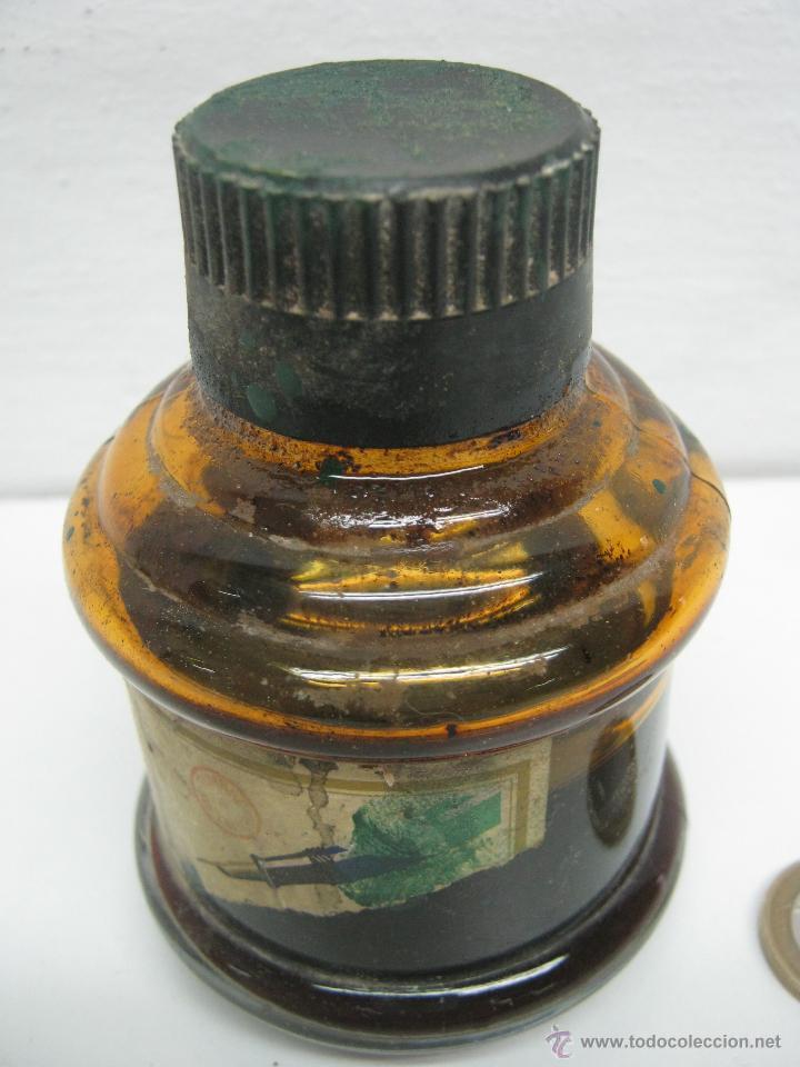 Escribanía: Bello bote antiguo Tinta Estilografica Pelikan - Foto 3 - 43040136