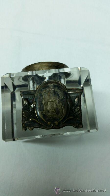 Escribanía: Escribanía en Metal y cristal S. XIX aproxi. - Foto 4 - 43606689