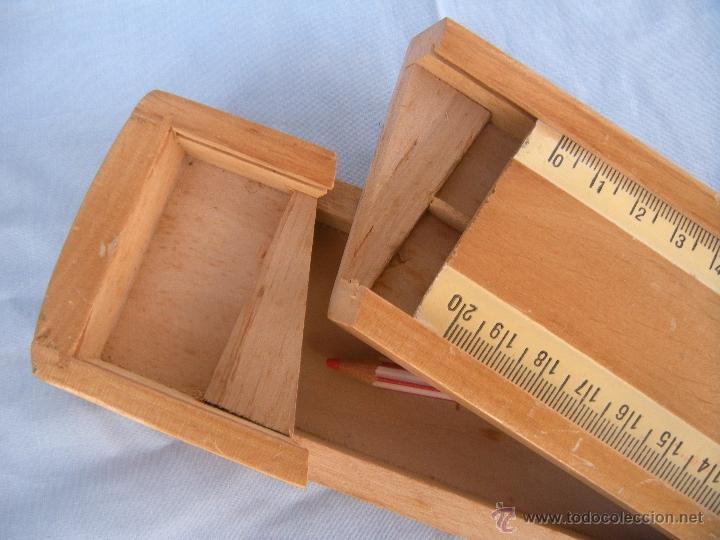 Antiguo plumier de madera de 2 pisos comprar en for Comprar encimera de madera