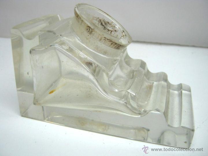 Escribanía: Gran tintero y portaplumas de cristal - Foto 3 - 44289185