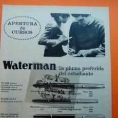 Escribanía: PUBLICIDAD - AÑO 1966 - PLUMAS WATERMAN. Lote 44940197