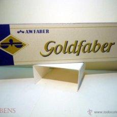 Escribanía: A.W. FABER, MUY ANTIGUA CAJA CON 12 LAPICES GRAFITO COPIATIVO MOD. GOLDFABER 4000 B=2. Lote 50135945
