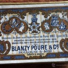 Escribanía: CAJA DE CARTON CON PLUMILLAS MARCA BLANZY POURE & CIE PARIS *NUMISBUR*. Lote 45227682