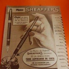 Escribanía: PUBLICIDAD REVISTA 1956 - SHEAFFERS - ANUNCIO DE CUBA . Lote 45891483