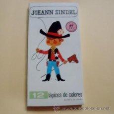 Escribanía: ANTIGUA CAJA DE COLORES JOHANN SINDEL 12 COLORES(NUEVO). Lote 125937142