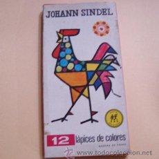 Escribanía: CAJA DE LAPICES DE COLORES JOHANN SINDEL 12 COLORES. Lote 144235316