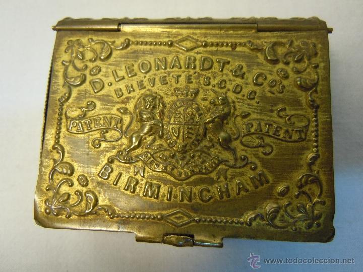 CAJA DE PLUMILLAS DE LEONARDT & CO DE BIRMINGHAM HACIA 1860 (Plumas Estilográficas, Bolígrafos y Plumillas - Plumillas y Otros Elementos de Escribanía)