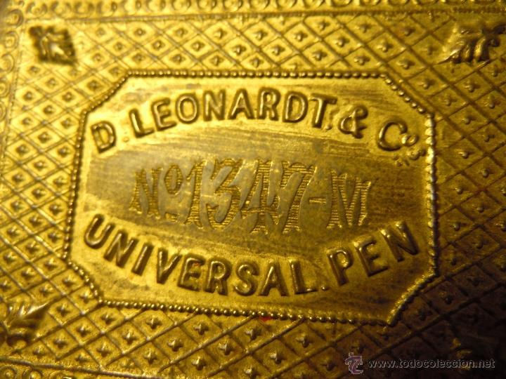 Escribanía: CAJA DE PLUMILLAS DE LEONARDT & CO DE BIRMINGHAM HACIA 1860 - Foto 2 - 46972615