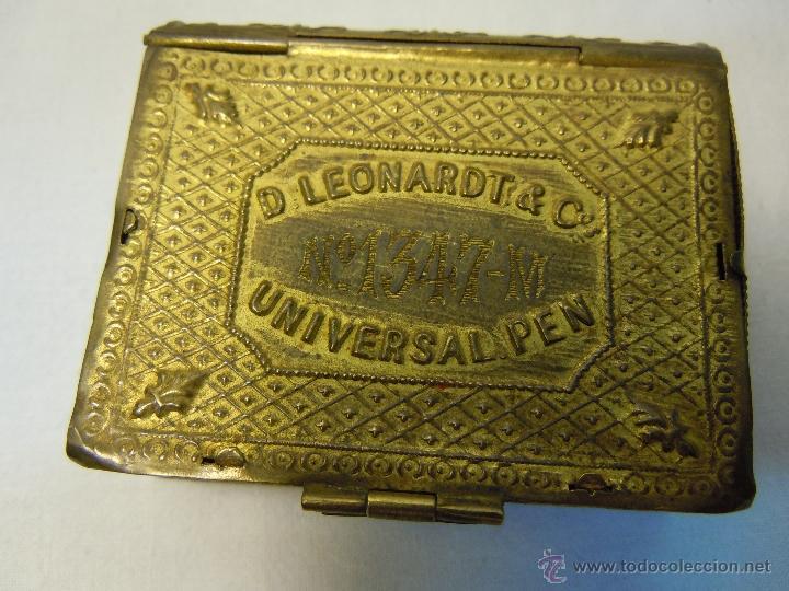 Escribanía: CAJA DE PLUMILLAS DE LEONARDT & CO DE BIRMINGHAM HACIA 1860 - Foto 8 - 46972615