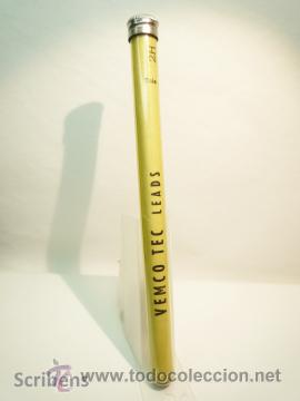 VEMCO TEC ANTIGUO TUBO ACETATO PORTAMINAS CON 12 MINAS GRAFITO 2MM 2H (Plumas Estilográficas, Bolígrafos y Plumillas - Plumillas y Otros Elementos de Escribanía)