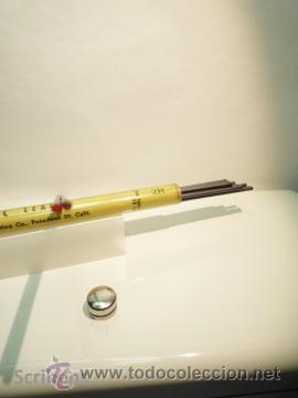 Escribanía: VEMCO TEC ANTIGUO TUBO ACETATO PORTAMINAS CON 12 MINAS GRAFITO 2MM 2H - Foto 6 - 47478200