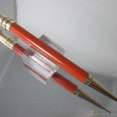 Escribanía: N756-PORTAMINAS-USA-PARKER DUOFOLD JUNIOR ORANGE-12,8X0,80 CMS-RING TOP-BUEN ESTADO-FUNCIONA. Lote 46426474