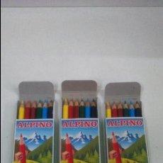 Escribanía: LOTE DE TRES CAJAS DE PINTURAS ALPINO. Lote 48069299