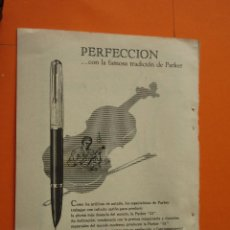 Escribanía: PUBLICIDAD 1959 - COLECCION PLUMAS BOLIS - PLUMA ESTILOGRAFICA 51 DE PARKER. Lote 68172267