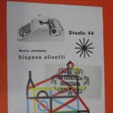Escribanía: PUBLICIDAD 1959 - COLECCION PLUMAS BOLIS - MAQUINA DE ESCRIBIR HISPANO OLIVETTI STUDIO 44. Lote 48475966