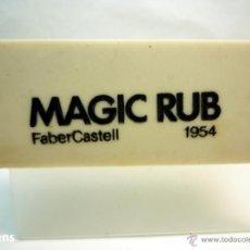 Escribanía: FABER CASTELL, ANTIGUA GOMA DE BORRAR MAGIC RUB 1954. Lote 45059186