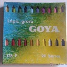 Escribanía: CAJA LÁPICES GRASOS GOYA. Lote 108076527