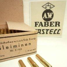 Escribanía: A.W. FABER CASTELL, 3 ANTIGUOS TUBOS METÁLICOS DE 6 MINAS CADA UNO, Nº: 2/103. Lote 103990546