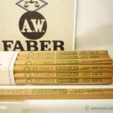 Escribanía: A.W. FABER CASTELL, ANTIGUO MAZO CON 12 LAPICES GRAFITO GOLDFABER Nº 1221 4H. Lote 189281283