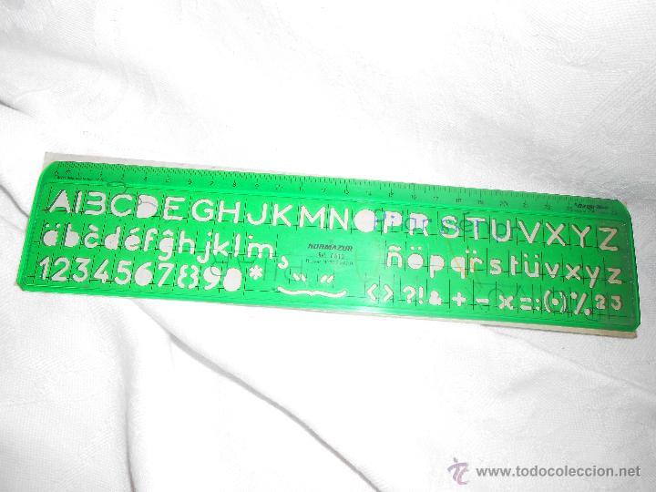 regla y plantillas de letras ,números - Comprar en todocoleccion ...