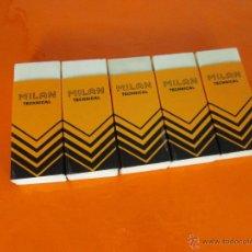 Escribanía: LOTE 5 GOMAS-MILÁN-NUEVAS-VER FOTOS.. Lote 50042070