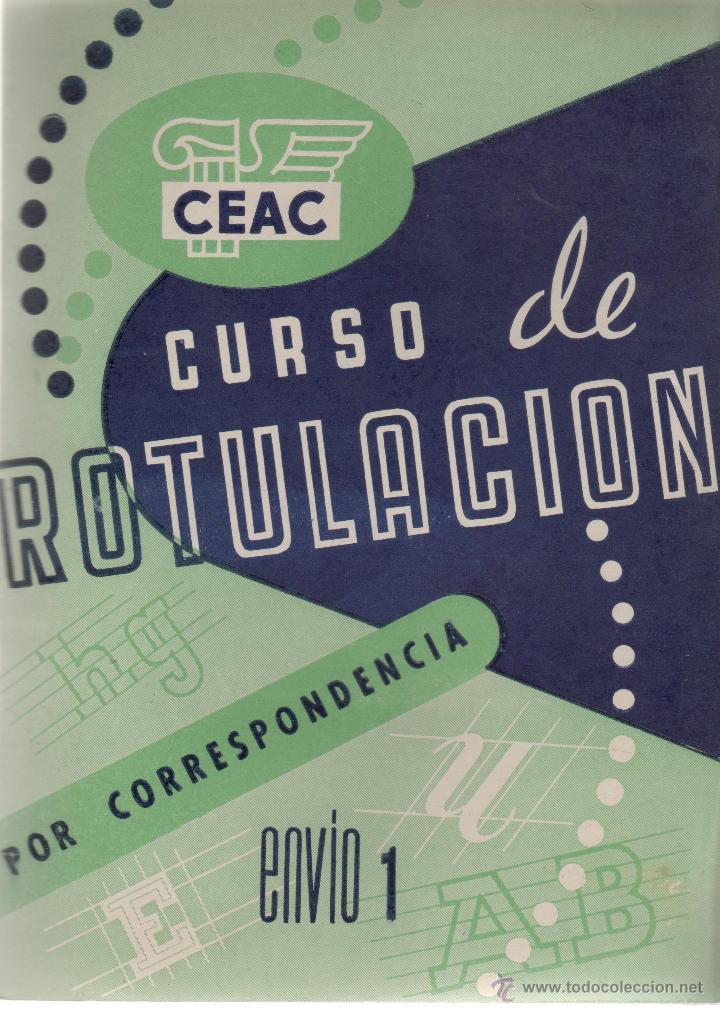 LIBRO DE CEAC CURSO DE ROTULACION POR CORRESPONDENCIA Nº 1 (Plumas Estilográficas, Bolígrafos y Plumillas - Plumillas y Otros Elementos de Escribanía)