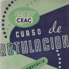 Escribanía: LIBRO DE CEAC CURSO DE ROTULACION POR CORRESPONDENCIA Nº 1. Lote 50300786