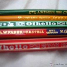 Escribanía: LOTE DE 5 LAPIZES ANTIGUOS DE LA MARCAS OTHELLO -FABER-CASTELL-FABER. Lote 50716438