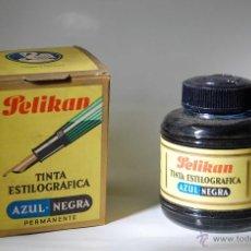 Escribanía: FRASCO DE TINTA CHINA PELIKAN 80 // LLENO SIN DESPRECINTAR. Lote 50976223