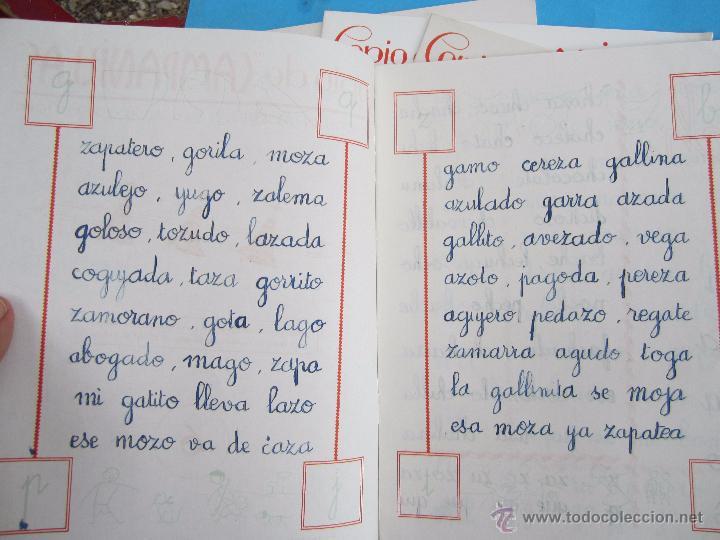 Escribanía: 5 libretas, copio de campanilla iniciacion en lescritura y en el dibujo , toral 6,7,8,9,10 año 1958 - Foto 2 - 51052986
