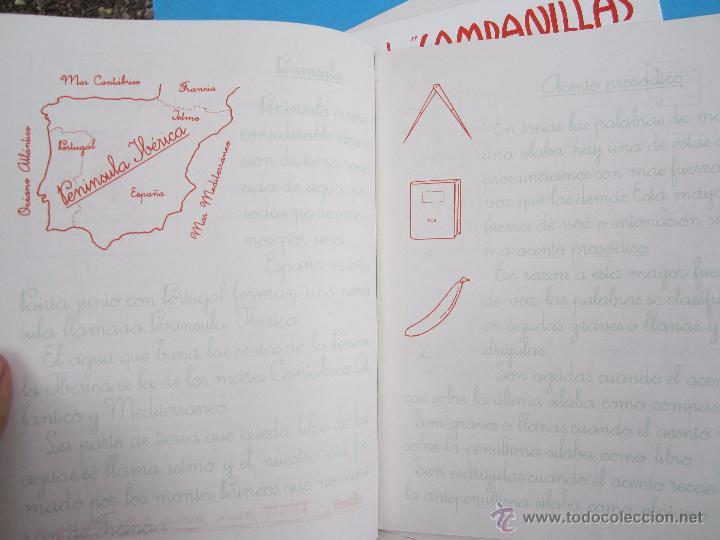 Escribanía: 5 libretas, copio de campanilla iniciacion en lescritura y en el dibujo , toral 6,7,8,9,10 año 1958 - Foto 3 - 51052986
