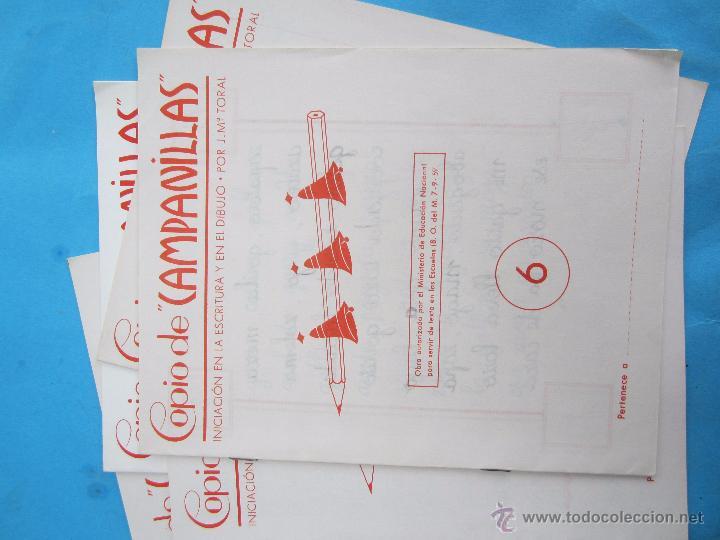 Escribanía: 5 libretas, copio de campanilla iniciacion en lescritura y en el dibujo , toral 6,7,8,9,10 año 1958 - Foto 4 - 51052986