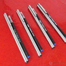 Escribanía: AºLOTE DE 4 ROLLER ESPAÑA-INOXCROM 1100 FINE LINE-RECARGAS ORIGINALES-NUEVOS-VER FOTOS.. Lote 121987675