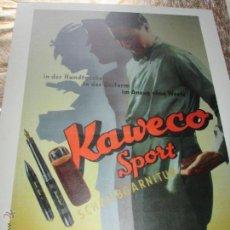 Escribanía: AºLETRERO-GERMANY-KAWECO SPORT-60X80 CMS-PERFECTO ESTADO-VER FOTOS.. Lote 211734035