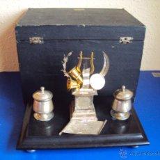Escribanía: (ANT-12)ESCRIBANIA AR.EXPOSICION UNIVERSAL BARCELONA 1888,PREMIO OFRECIDO POR EL ORFEO CORUÑES ELECO. Lote 52011471