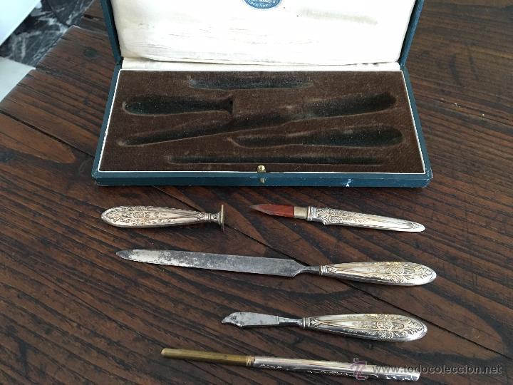 Escribanía: Estuche de escribanía plateada. Box of silver plated pen set. - Foto 3 - 53138397