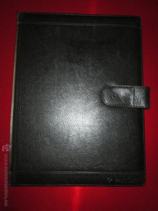 Escribanía: AªCARPETA CON APARTADOS,BLOCK,APUNTES,BOLÍGRAFO-PARKER-31x24 CMS-BUEN ESTADO-TAMAÑO FOLIO - Foto 3 - 53238864