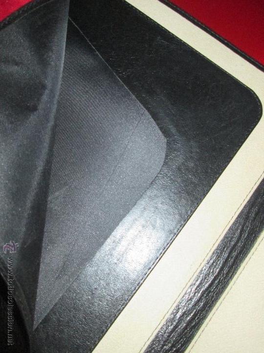 Escribanía: AªCARPETA CON APARTADOS,BLOCK,APUNTES,BOLÍGRAFO-PARKER-31x24 CMS-BUEN ESTADO-TAMAÑO FOLIO - Foto 4 - 53238864
