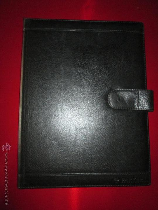 Escribanía: AªCARPETA CON APARTADOS,BLOCK,APUNTES,BOLÍGRAFO-PARKER-31x24 CMS-BUEN ESTADO-TAMAÑO FOLIO - Foto 6 - 53238864