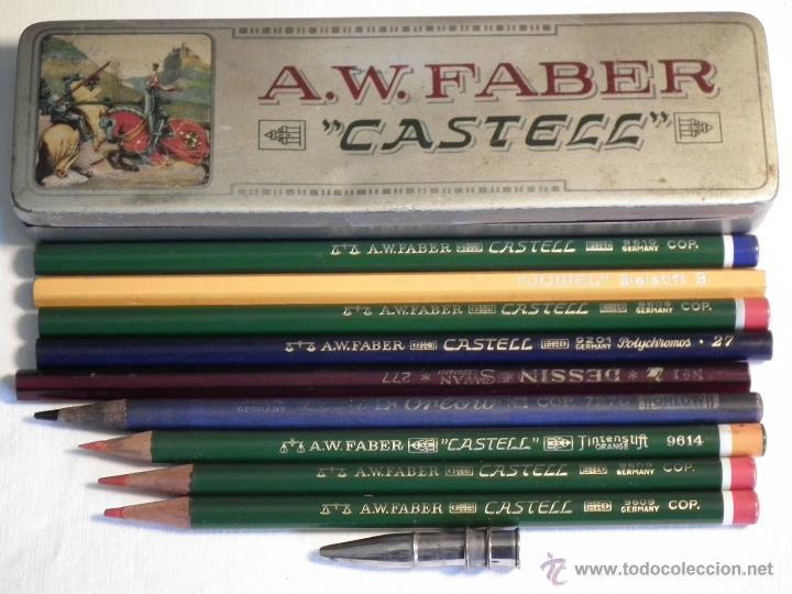 ANTIGUA CAJA FABER CASTELL (Plumas Estilográficas, Bolígrafos y Plumillas - Plumillas y Otros Elementos de Escribanía)