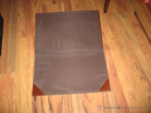 Escribanía: Antiguo vade marron adornos metal dorado para mesa de escritorio medida 47 x 36 cm. - Foto 2 - 54204840