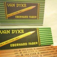 Escribanía: EBERHARD FABER, ANTIGUA CAJA CON 12 LÁPICES GRAFITO VAN DYKE Nº 600 HB. 1930'S. Lote 109393739