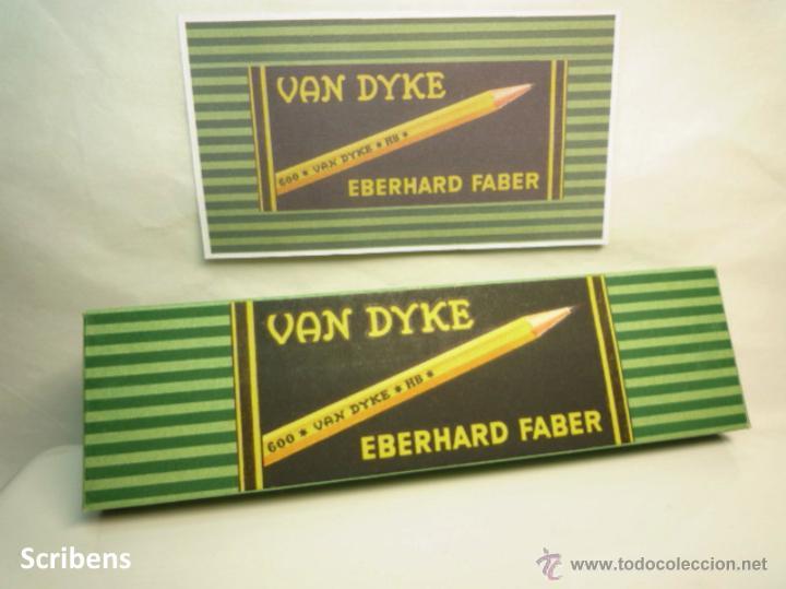 Escribanía: EBERHARD FABER, ANTIGUA CAJA CON 12 LÁPICES GRAFITO VAN DYKE Nº 600 HB. 1930s - Foto 2 - 109393739